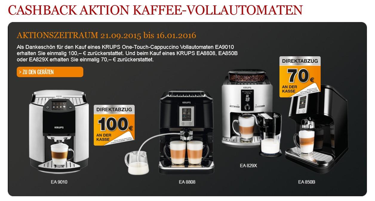 krups mit cashback aktion bis zu 100 euro zur ck bei kauf eines vollautomaten. Black Bedroom Furniture Sets. Home Design Ideas