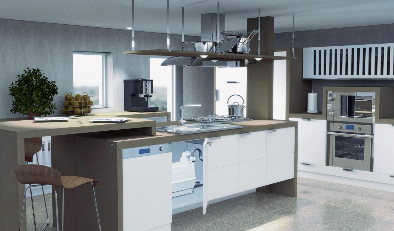 Auch für Waschmaschinen und Geschirrspüler: Kleinhebeanlagen
