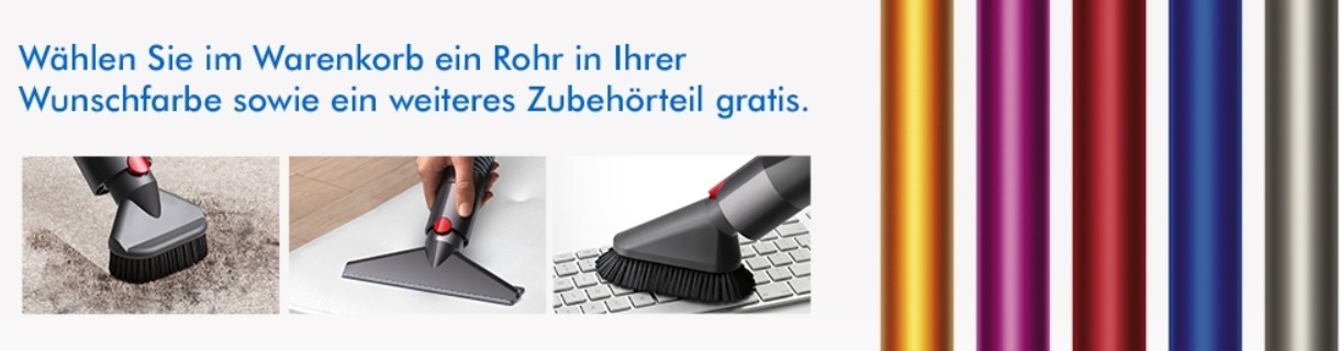 farbiges rohr und zubeh r gratis dyson mit. Black Bedroom Furniture Sets. Home Design Ideas