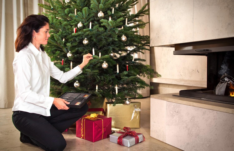 led kerzen weihnachtsbaum