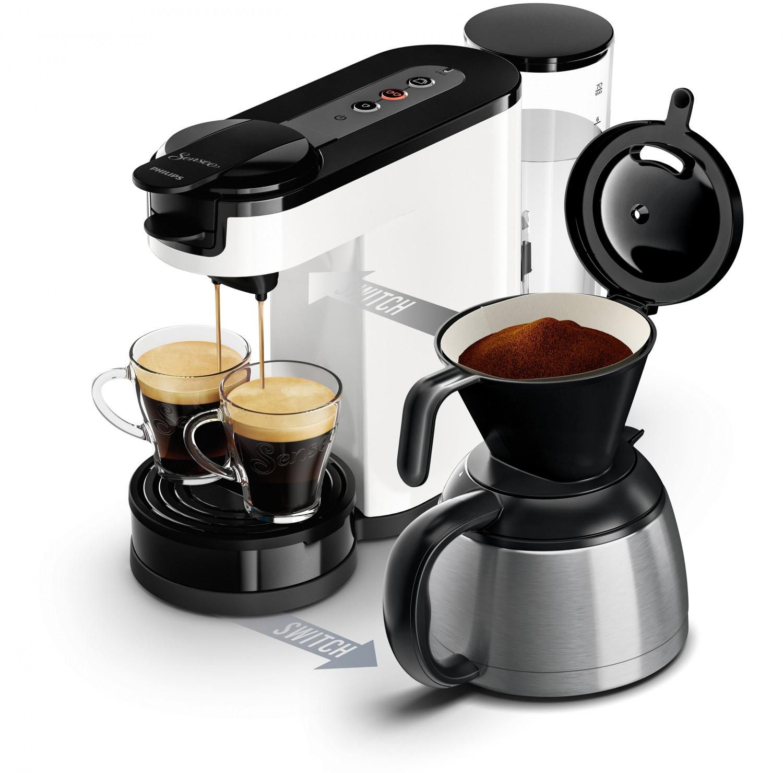 kaffee aus filter oder pad neue senseo switch von philips. Black Bedroom Furniture Sets. Home Design Ideas