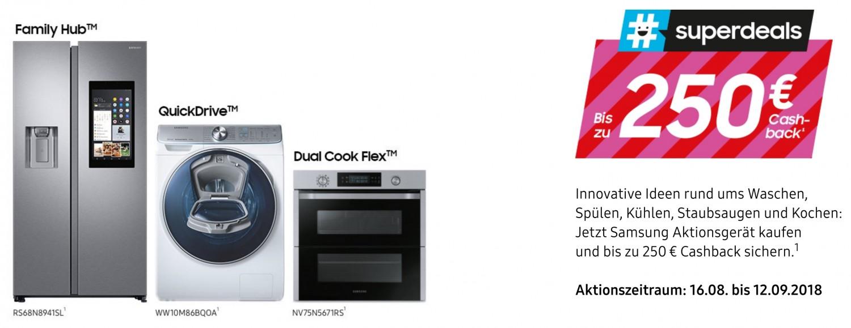 Haushaltsgeräte Noch bis zum 12. September: Cashback-Aktion von Samsung für Haushaltsgeräte - News, Bild 1