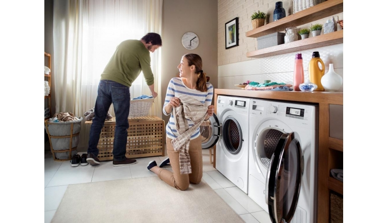 Trockner und waschmaschine von beko mit geringer raumtiefe nur