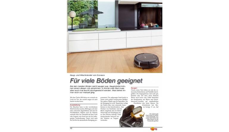 saug und wischroboter von ecovacs im h rtetest ab sofort. Black Bedroom Furniture Sets. Home Design Ideas