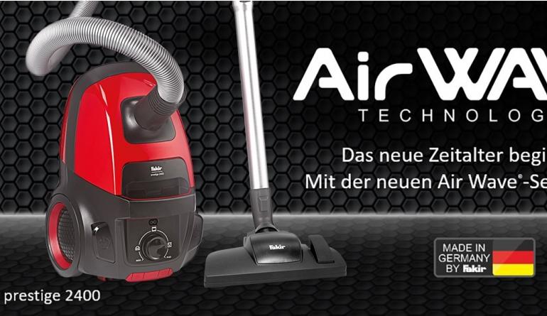 Haushaltsgeräte Fakir-Staubsauger der Serie Air Wave setzen auf neue Art der Luftführung - News, Bild 1