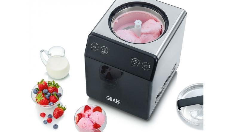 Haushaltsgeräte Graef-Eismaschine im Edelstahllook - Auch für Joghurt-Zubereitung - News, Bild 1