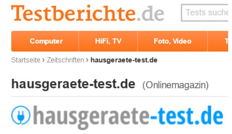 Haushaltsgeräte Hausgeraete-test.de geht Kooperation mit Verbraucherportal Testberichte.de ein - News, Bild 1