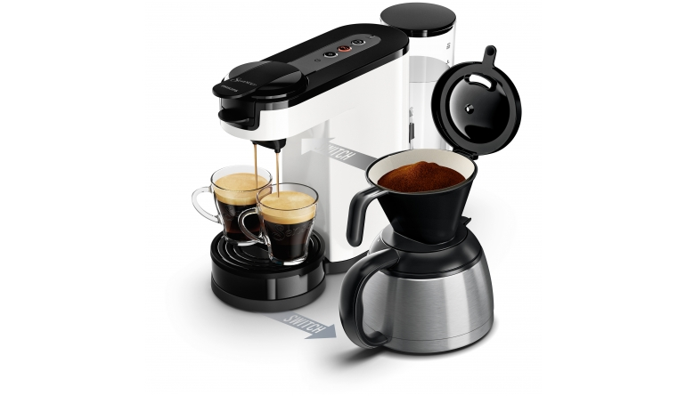 kaffee aus filter oder pad neue senseo switch von philips kann beides. Black Bedroom Furniture Sets. Home Design Ideas