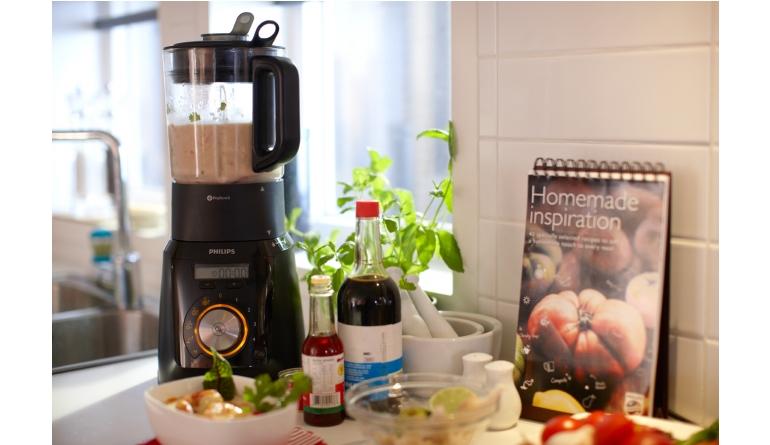 Haushaltsgeräte Standmixer mit zusätzlicher Kochfunktion von Philips - LED-Anzeige und Leuchtring - News, Bild 1