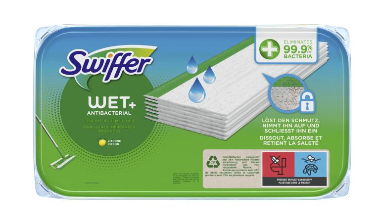 Produktvorstellung Antibakterielle feuchte Bodentücher von Swiffer - Grüner Scheuerstreifen - News, Bild 1