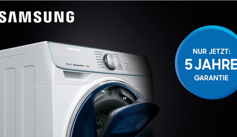 f nf jahre garantie samsung aktion f r k ufer einer quickdrive waschmaschine. Black Bedroom Furniture Sets. Home Design Ideas