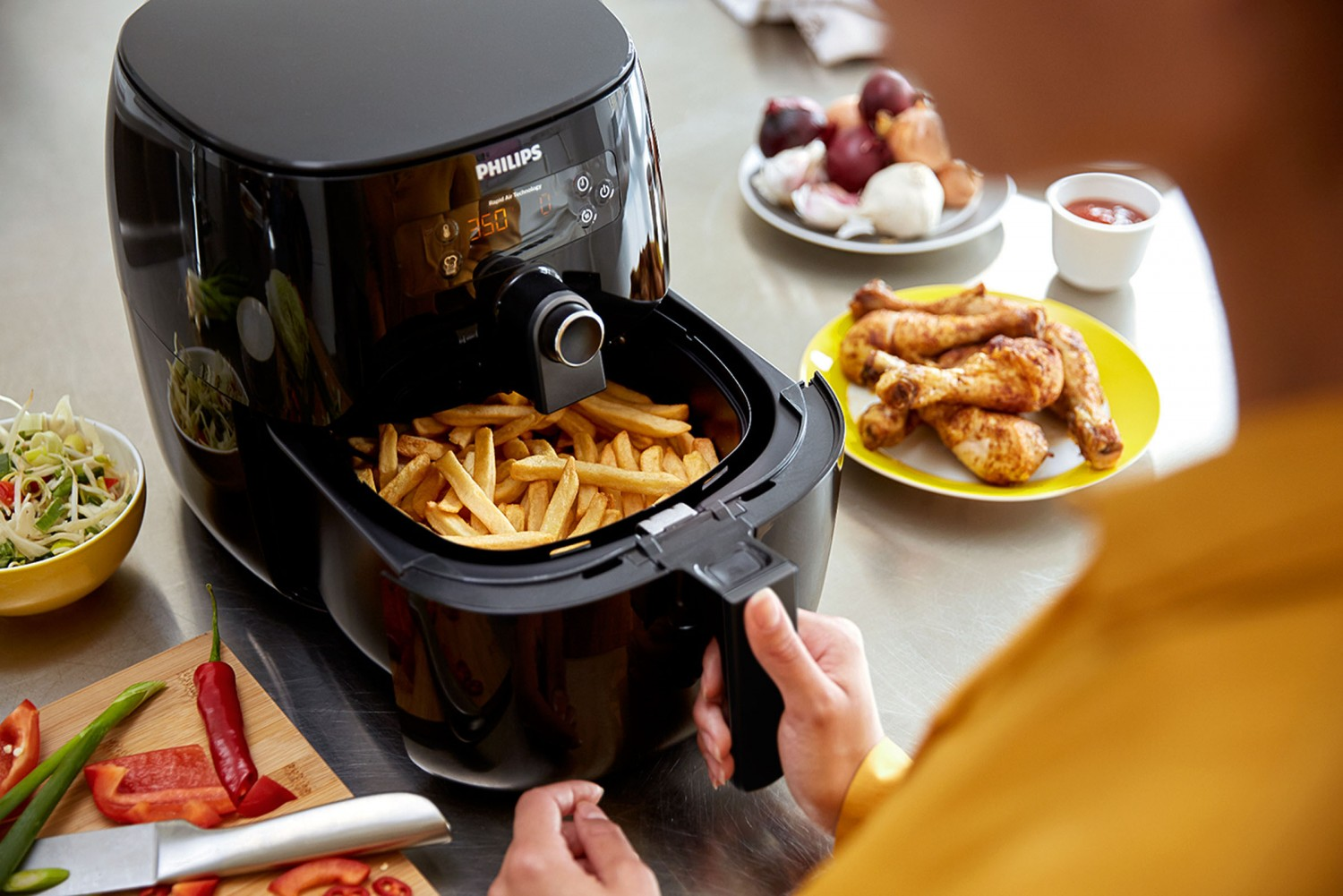 Test Fritteuse Philips Airfryer Avance Turbostar Hd9640