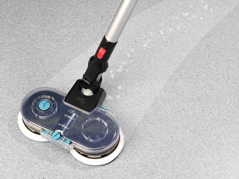 Staubsauger Sichler 3in1-Zyklon-Hand- & Bodensauger mit Wisch-Aufsatz BHS-580.ak im Test, Bild 14