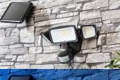 Beleuchtung Luminea 3-fach-Solar-LED-Fluter im Test, Bild 1