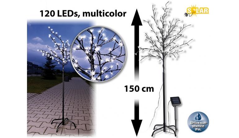 Beleuchtung LUNARTEC Solar Lichterbaum, 120 Blüten incl. Standfuß im Test, Bild 1