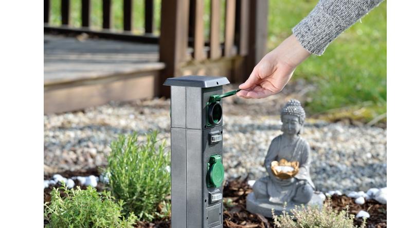 Sonstiges Haustechnik Royal Gardineer 4-fach-Steckdosen-Säule für den Garten (NX7336) im Test, Bild 1
